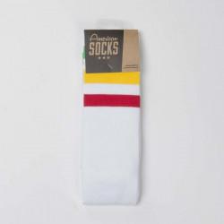 American Socks Rasta - Knee High white / green - yellow - red - UNI