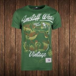 Amstaff Vintage Perro T-Shirt - grün