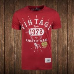 Amstaff Vintage T-Shirt - bordeaux