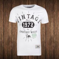 Amstaff Vintage T-Shirt - weiß