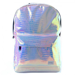 Batoh Spiral Textured Blush Holographic Backpack
