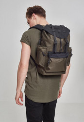 Batoh Urban Classics Camo Backpack With Multibags olivový