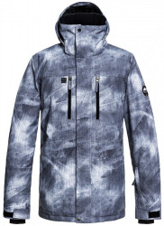 Bunda Quiksilver Mission Printed grey simple texture