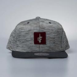 Cap Mitchell & Ness snapback Cleveland Cavaliers grey / burgundy Brushed Melange - UNI
