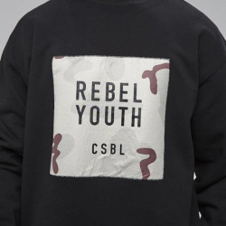 Cayler & Sons crewneck Black Label Rebel Youth Crewneck black / desert camo #1