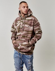 CAYLER & SONS Mikina C&s BL Pleated Loose Fit Camo Beige