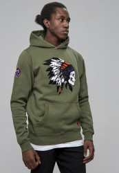 CAYLER SONS Pánska mikina CSBL Patched Hoody Farba: olv/wht,