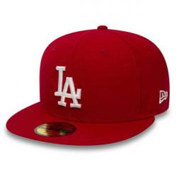 Červená šiltovka New Era 59Fifty Essential LA Dodgers Red White Size: 7 1/4
