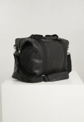 Cestovná taška Urban Classics Imitation Leather Weekender black