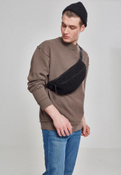 Čierna bavlnená Ľadvinka Urban Classics Sherpa Shoulder Bag black