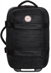 Čierny kufor Roxy Wheelie solid true black 30l