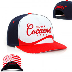 Cocaine Life Enjoy Cocaine Snapback Navy Red - UNI