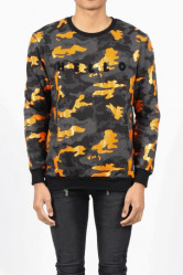 Crewneck Sixth June Camo Orange