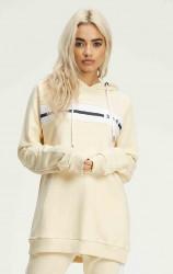 Dámska béžová mikina s kapucňou 304 Clothing
