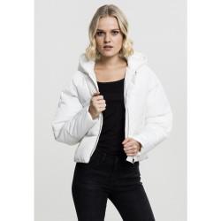Dámska biela bunda s kapucňou Urban Classics