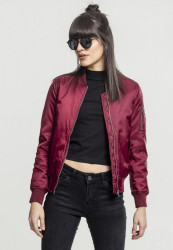 Dámska bombera URBAN CLASSICS LADIES BASIC BOMBER JACKET BURGUNDY