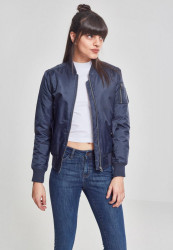 Dámska bombera URBAN CLASSICS LADIES BASIC BOMBER JACKET NAVY