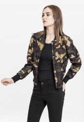 Dámska bombera URBAN CLASSICS Ladies Light Bomber Jacket Camo woodcamo