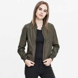 Dámska bombera Urban Classics Ladies Light Bomber Jacket darkolive