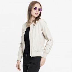 Dámska bombera Urban Classics Ladies Light Bomber Jacket sand