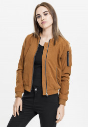 Dámska Bombera Urban Classics Ladies Peached Bomber Jacket Toffee