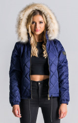 Dámska bunda Gianni Kavanagh Navy Blue Quilted Jacket