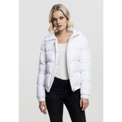 Dámska Bunda Urban Classics Hooded Puffer White