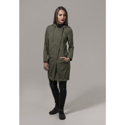 Dámska Bunda Urban Classics Ladies Asymetric Parka Darkolive