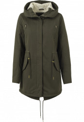 Dámska Bunda Urban Classics Ladies Sherpa Lined Cotton Parka olive