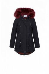 Dámska čiernobordová zimná bunda Sixth June Fur Parka