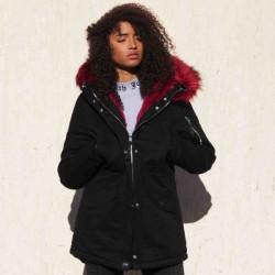 Dámska čiernobordová zimná bunda Sixth June
