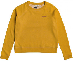 Dámska crewneck mikina Roxy Stay Together golden glow heather