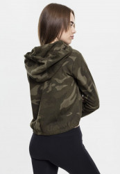 Dámska crop top mikina URBAN CLASSICS Ladies Camo Cropped Hoody #2