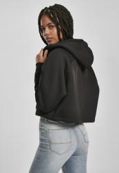 Dámska crop top mikina URBAN CLASSICS Ladies Oversized Short Raglan Zip Hoody čierna #2
