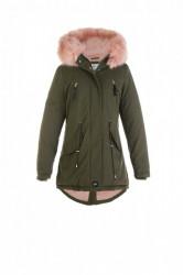 Dámska khaki zimná bunda Sixth June Fur Parka