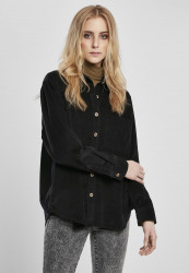 Dámska košeľa Urban Classics Ladies Corduroy Oversized black
