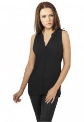 Dámska košeľa Urban Classics Ladies Sleeveless Chiffon Blouse čierna