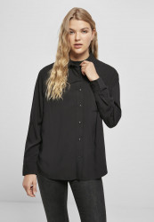 Dámska košeľa URBAN CLASSICS Ladies Viscose Oversize Shirt black
