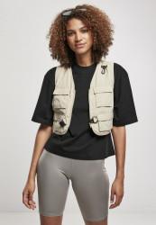 Dámska krátka vesta URBAN CLASSICS Ladies Short Tactical Vest concrete
