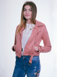 Dámska lososová bunda Urban Bliss Camilla Biker