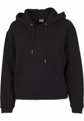 Dámska mikina bez zipsu URBAN CLASSICS Ladies Sweat Hoody BLACK
