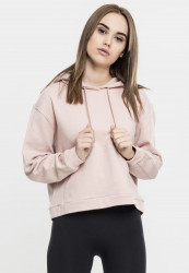 Dámska mikina bez zipsu URBAN CLASSICS Ladies Sweat Hoody LIGHTPINK