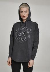Dámska mikina MERCHCODE Ladies Linkin Park OML Oversize Hoody tmavošedá Farba: charcoal,