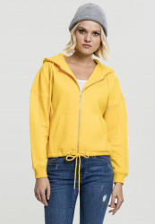 Dámska mikina na zips Urban Classics Ladies Kimono Zip Hoody chrome yellow