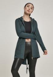 Dámska mikina na zips Urban Classics Ladies Sweat Parka bottlegreen