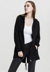Dámska mikina na zips Urban Classics Ladies Sweat Parka čierna