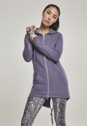 Dámska mikina na zips Urban Classics Ladies Sweat Parka dustypurple