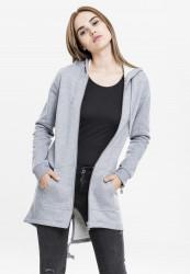 Dámska mikina na zips Urban Classics Ladies Sweat Parka grey