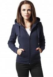 Dámska mikina na zips Urban Classics Ladies Zip Hoody námornícka modrá