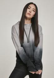 Dámska mikina URBAN CLASSICS Ladies Dip Dye Hoody black/grey